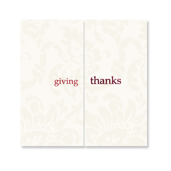giving thanks card
